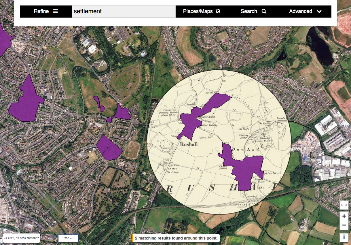 Full geospatial GIS with archaeology findspots and museum objects