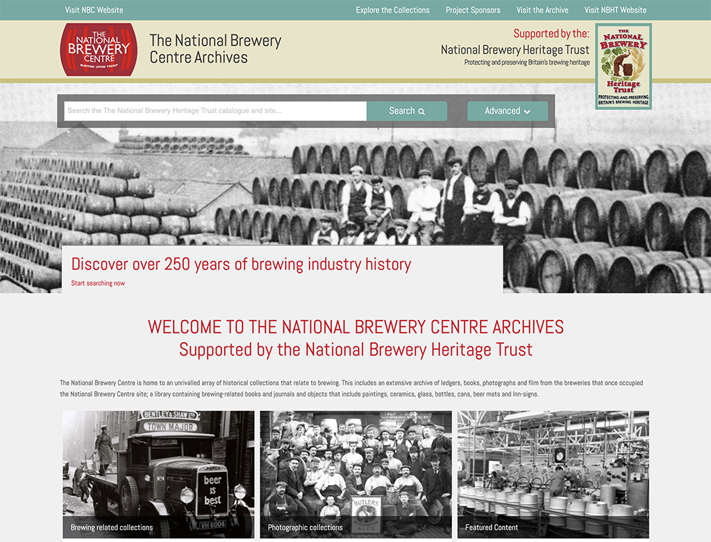 ICA AtoM and CollectionsBase for National Brewery Centre Archive and Museum